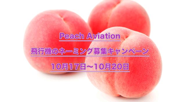 Peach飛行機ネーミング募集キャンペーン