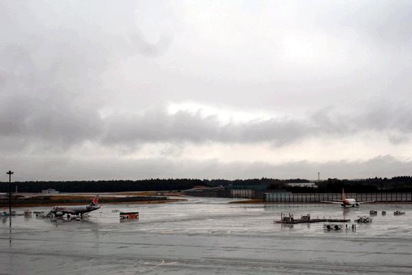 成田空港第2ターミナルの展望デッキ