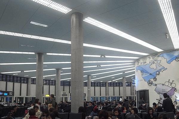 桃園空港第1ターミナルの搭乗待合場