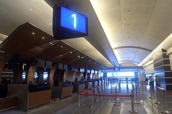 桃園空港第1ターミナルの出発ゲート
